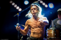 American singer Iggy Pop, James Newel Osterberg Jr performs at the music pause guitare festival. Albi, FRANCE - 06/07/2013.